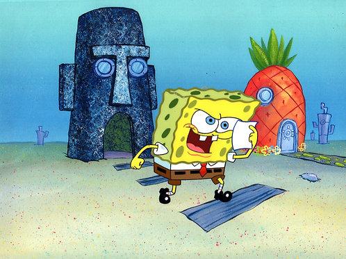 HUGE SpongeBob SquarePants production cel production cel