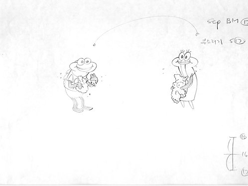 SpongeBob Production Drawing