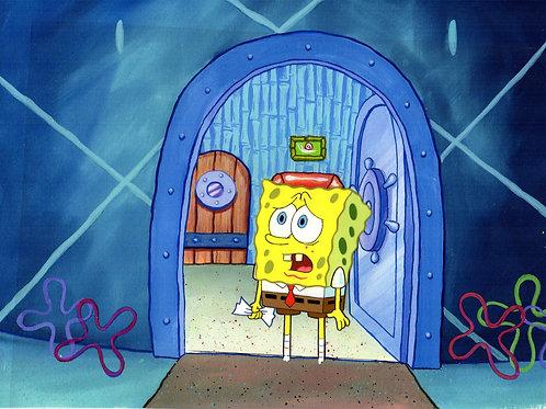 SpongeBob SquarePants production Cel from THE PAPER