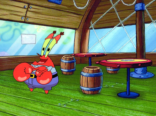 Krabs at the Krusty Krab!