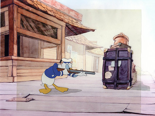 Walt Disney's production cel from  DONALD'S PENQUIN 1939