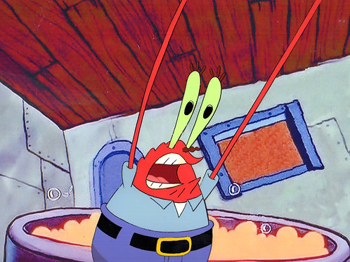 Krabs losing control from Squeaky Boots.