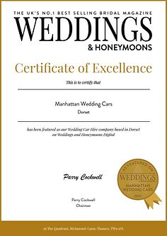 Manhattan Wedding Cars-Certificate Dorset.PNG