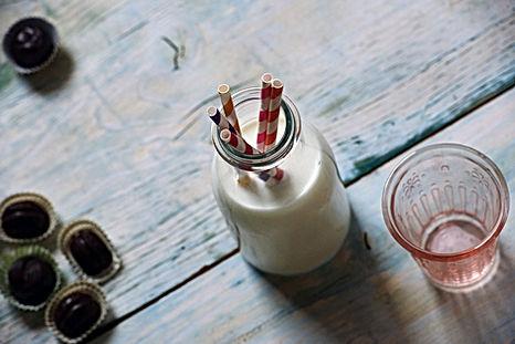 Pot de lait avec Straws