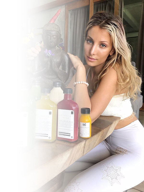 Pia Meliane with Helenika Travels Juices