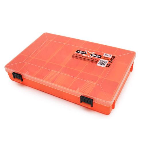 Коробка для хранения воблеров TOP BOX TB-2400 270*190*45 мм., цвет оранжевый