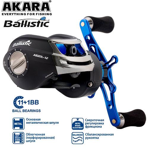 Мультипликаторная катушка Akara Ballistic AB20L кастинговая под левую руку