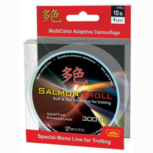 Леска Mystic Salmon Troll Camo 0,40 мм в размотке 300 м, цвет multicolor