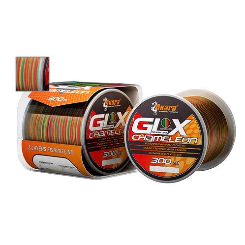 Леска Akara GLX Chameleon Power Line 0,4 мм в размотке 300 м, цвет multicolor