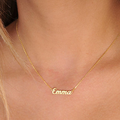 Personalized gold necklace