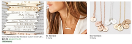 personalized jewelry, bar necklaces
