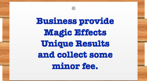 Business provides magic for free and charge for the wrapper