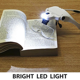 Magnifier with light for cross-stitching