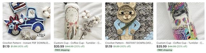 crochet design download digital files, crocheting