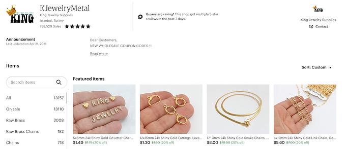 jewelry, craft supplies