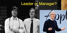 Leader or manager? Steve Jobs gives the answer