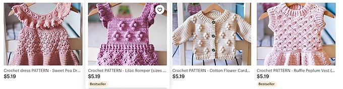 crochet patters digital download