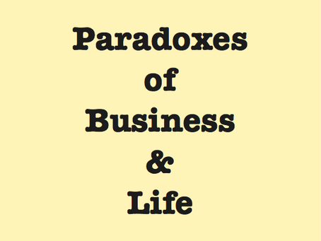 Paradoxes and Clouds Surrounding Entrepreneurship