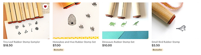art supplies, stamps