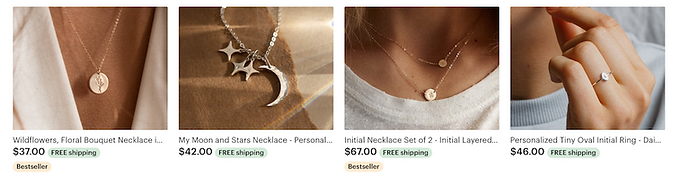 personalized jewelry and gifts, gold necklaces