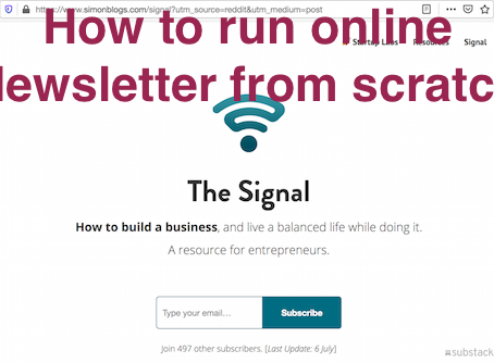 Startup Execution Note: How to run a newsletter business