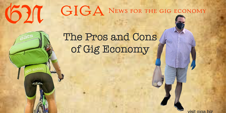 The Pros and cons of gig economy