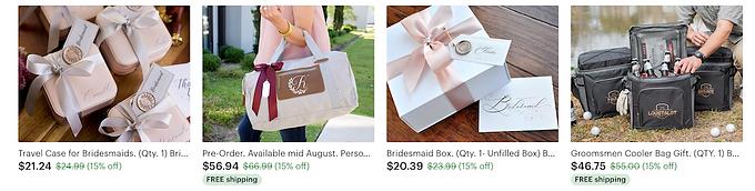 wedding gifts, bridal gifts, groomsman gift, gift box