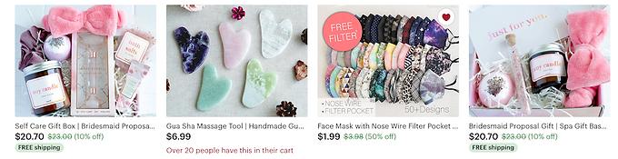 clothing, masks, gifts
