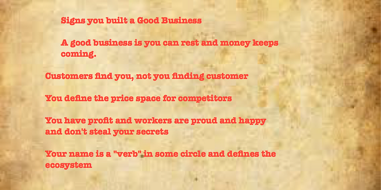 Signs you have started a good business