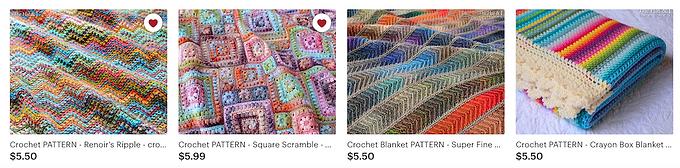 crochet patterns digital downloads