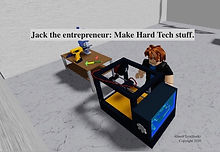Jack the entrepreneur building prototype