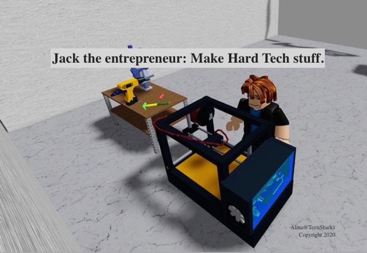 Jack the entrepreneur building prototype