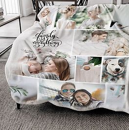 Personalized blanket gift. Digital art. Canvas. Poster.