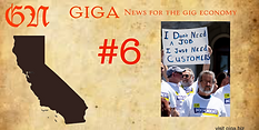 What is California rule #6 going to do for gig work force?