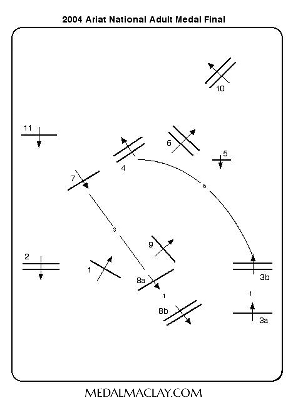 2004 National Adult Medal Round 1 Course