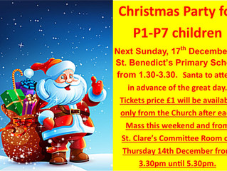 Christmas Party for Primary 1 - Primary 7
