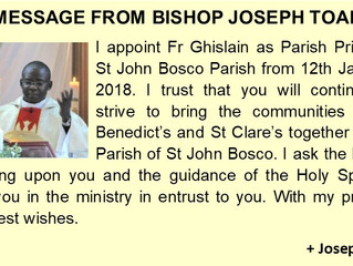 Message from Bishop Toal