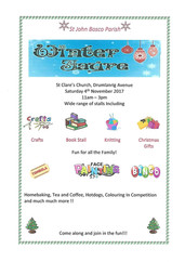 Parish Winter Fayre - Saturday 4th November from 11am at St Clare's Church