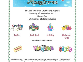 Parish Winter Fayre - Saturday 4th November from 11am at St Clare's Church