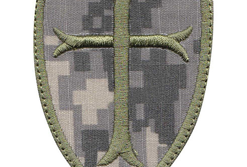 Christian Cross Crusade Shield - Velcro Back