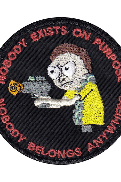 Rick And Morty Nobody Exists - Glue Back To Sew On