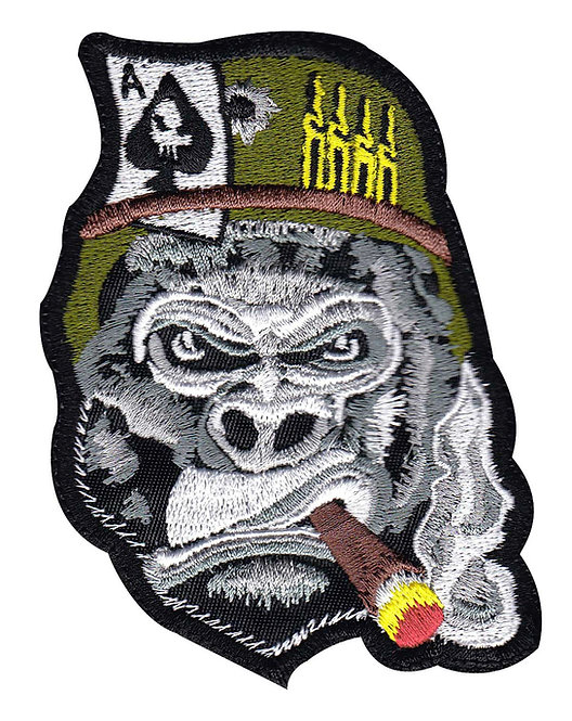 Gorilla Warfare Smoking Aces - Velcro Back