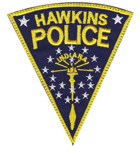 Hawkins Police Department Stranger Things - Glue Back To Sew On