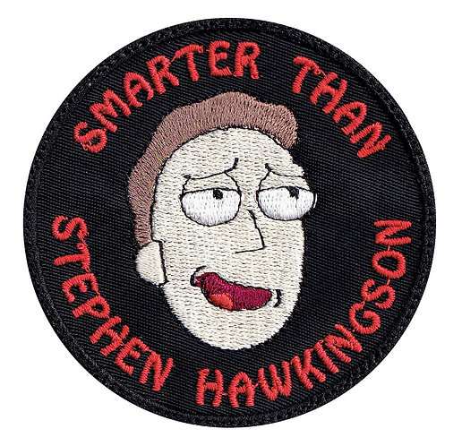 Rick And Morty Jerry Smith Smarter Than Stephen Hawkingson - Velcro Back