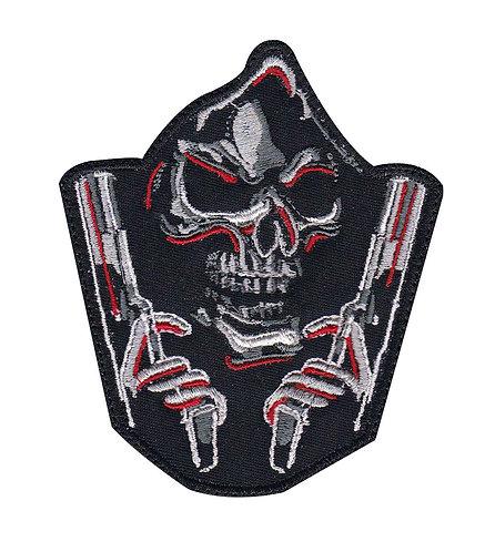 Grim Reaper Double Guns Patch - Velcro Back