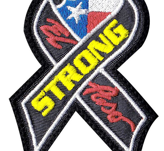 Texas El Paso Strong Support Ribbon - - Velcro Back