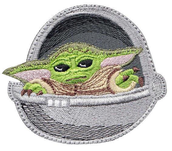 Baby Yoda Pod Force Mandalorian - Glue Back To Sew On