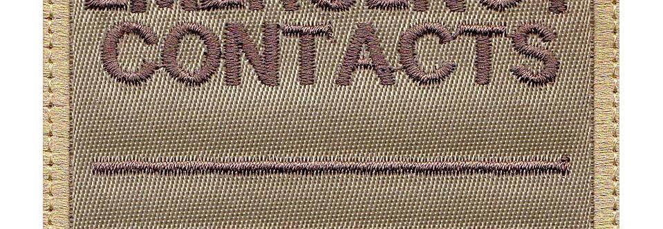 Emergency Contact Notice - Velcro Back