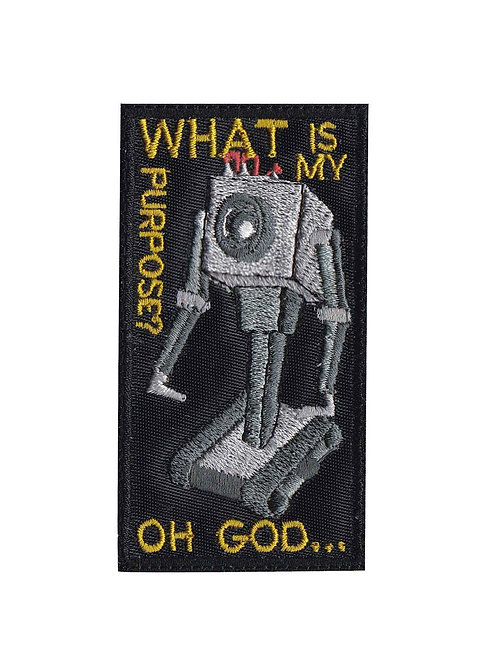 What Is My Purpose Robot Rick And Morty - Glue Back To Sew On