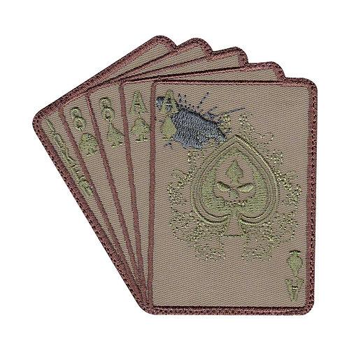 Deadman Hand Skull Ace Card Eights - Velcro Back